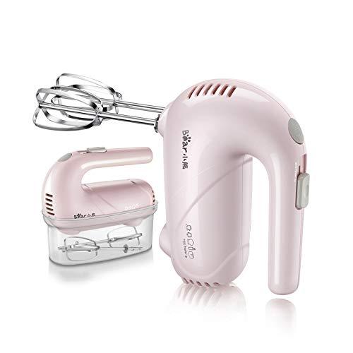 WMC 5 Geschwindigkeit elektrischer Handnahrungsmittelmixer justieren doppelten Schneebesen-Eiermischer-Teig-Schläger-Sahnelebensmittelmixer für das Küche-Kochen,Pink