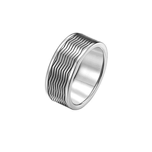 Joop! Herren-Ring JP-M Zigzag Edelstahl Gr. 63 (20.1)-JPRG10656A200