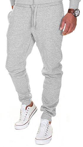 MERISH Jogginghose Herren  Jogger Männer  Baumwolle Jungen Slim Fit 211, Grau, XL