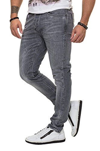 Antony Morato Herren Jeans Slim Fit Stretch Denim Herrenhose (W38, Steel Grey)