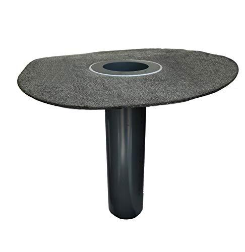 Flachdachablauf DN 100 inkl. Laubfang, Bitumen-Flansch rund, Dachgully, Einlauf, Dachentwässerung, DN 110