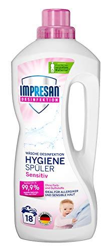 Impresan Hygiene-Spüler Sensitiv: Wäsche Desinfektion ohne Duft- und Farbstoffe – Hygienespüler - 1 x 1,5L