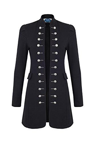 4tuality AO Massimo Military Coat Slim Fit Gr. XXXL Schwarz