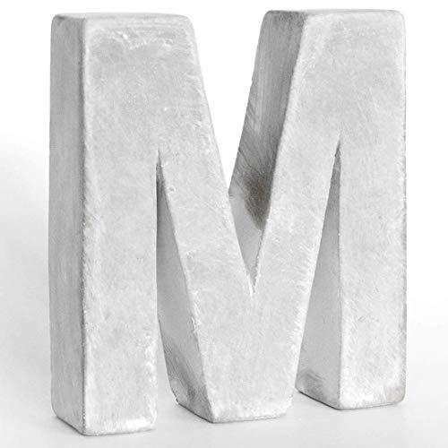 Alenio Individuelle Beton Wohnzimmer Deko Buchstaben Ihr Name in 3D Zement Home DIY Schriftzug Love Dekobuchstaben H15cm (M)