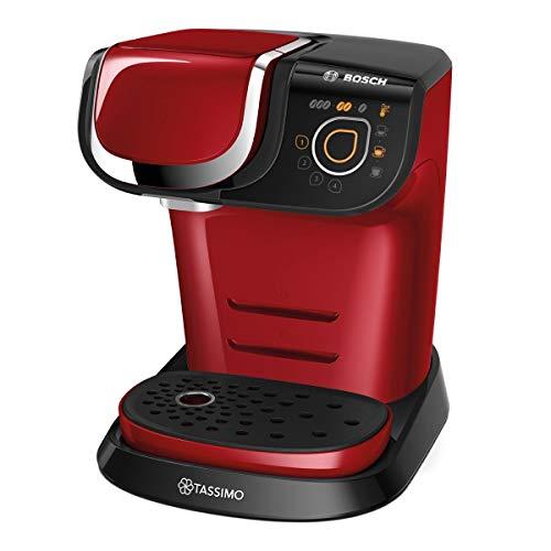 Bosch TAS6003 Tassimo My Way Kapselmaschine (1500 Watt, über 40 Getränke, vollautomatisch, individuelle Getränkeherstellung, Behälter 1,3 L) rot