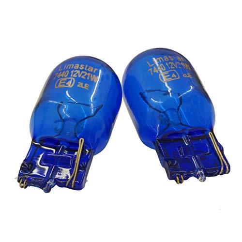 2er Set W21W Tagfahrlicht T20 12V 21W BLAU Birne Original Blue Kein Canbusfehler