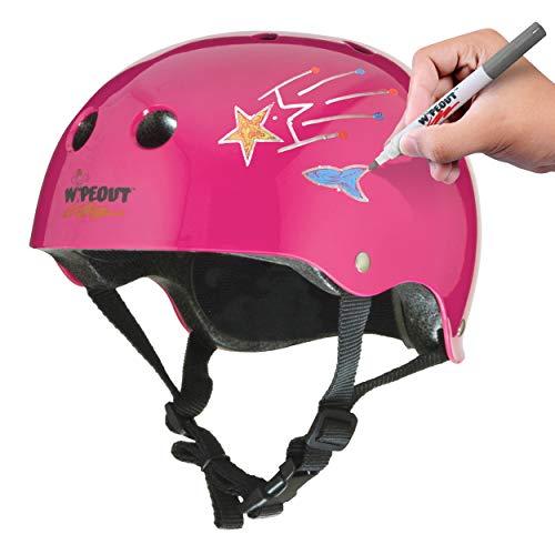 Wipeout Unisex, Jugendliche Dry Erase Kids Bike Helmet Kinderhelm, neon pink, Ages 5+