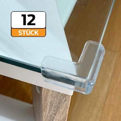 12 Stück Eckenschutz für Möbel, Stoßschutz für Baby und Kinder, Kantenschutz transparent