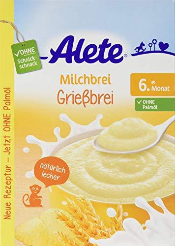 Alete Milchbrei Grießbrei, ohne Palmöl, ab dem 6. Monat, 1er Pack (1 x 400g) 15000689