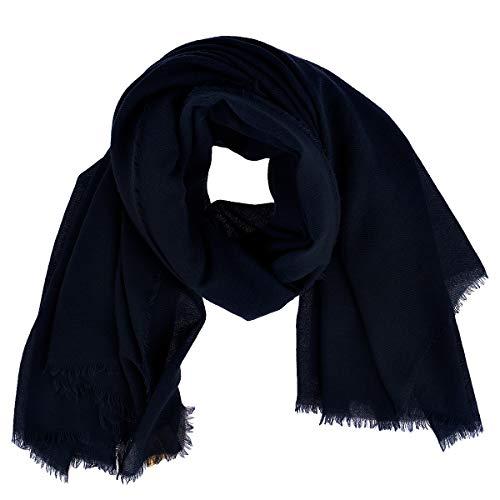 Becksöndergaard Damen Tuch Mill Halstuch Quadratisch viereckig Soft & wärmend aus feiner Wolle - 664001-200, Blau,Classic Navy, 140x140 cm