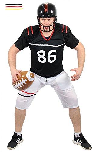 Quarterback Kostüm für Herren American Football Spieler Sportler Fasching Karneval Motto Party Größe L