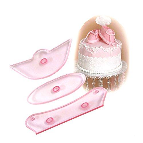 Albeey 3 Stück Baby Schuhe Fondantform Zucker Kuchen Dekoration