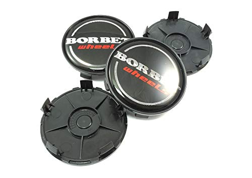 4x Borbet Nabendeckel Felgendeckel Nabenkappe 68,4mm für Borbet XRT Schwarz LK 5x120