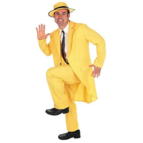 Fun Shack FN2783L Kostüm, Men, Gelber Anzug, Groß