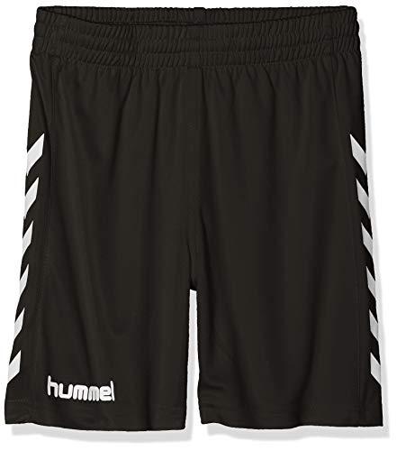 hummel Jungen Sporthose Kurz-Core Poly Shorts-Trainingshose Herren Hohe Bewegungsfreiheit-Laufshorts, Black Pr, 164-176 (XL)