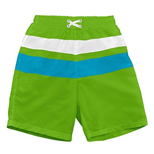 i play. 722103-504-48 Schwimmwindel- Badeshorts Farbblock 3-4 Jahre, lime/aqua