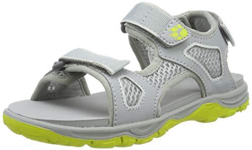 Jack Wolfskin Jungen Puno Beach Sandal B, Sport Sandalen, Grau (Slate Grey 6046), 27 EU