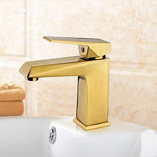 Euro Gold/Rose Gold Becken Kran Badezimmer Basin Wasserhahn Einhand Vanity Sink Mixer Waschbecken Wasserhahn, Gold