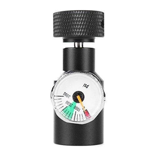 DyNamic Paintball CO2 Adapter Luftregler Füllstation Remote On Off 3000psi Gauge