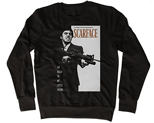 Uk print king Al Pacino Scarface Say Hello to My Little Friend Cooler Spruch, Slogan, lustiges Design, Geschenkidee