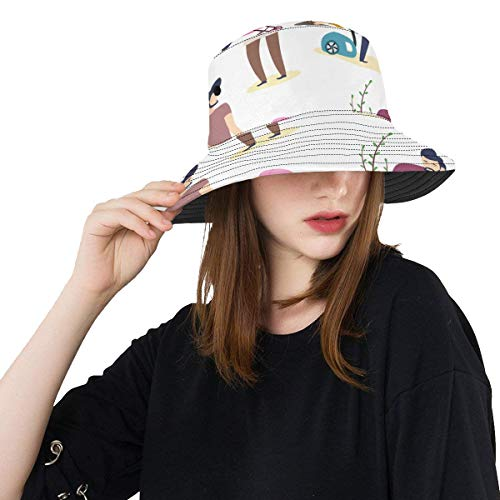 Plosds Houseworking Hardworking Sommer Unisex Angeln Sun Top Bucket Hats Für Kid Teens Frauen Und Männer Mit Packable Fisherman Cap Für Outdoor Baseball Sport Picknick