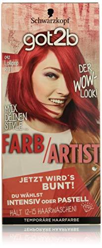 Schwarzkopf Got2b Farb/Artist Haarfarbe, 092 Lollipop Rot, 3er Pack (3 x 80 ml)