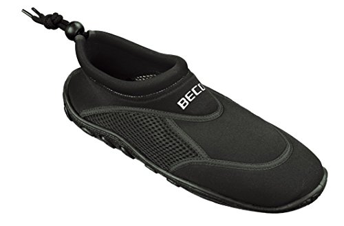 BECO Badeschuhe / Surfschuhe für Damen und Herren schwarz 42