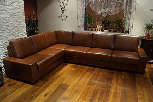 Quattro Meble Echtleder Ecksofa California 216x287cm Ledersofa Echt Leder Eck Couch große Farbauswahl !!!
