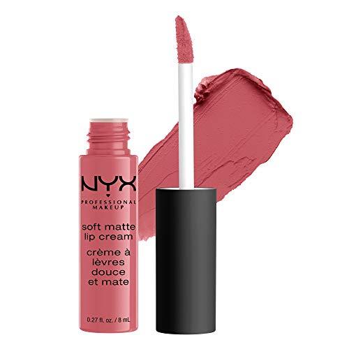 NYX Professional Makeup Soft Matte Lip Cream, Cremiges und mattes Finish, Hochpigmentiert, Langanhaltend, Vegane Formel, Farbton: Cannes