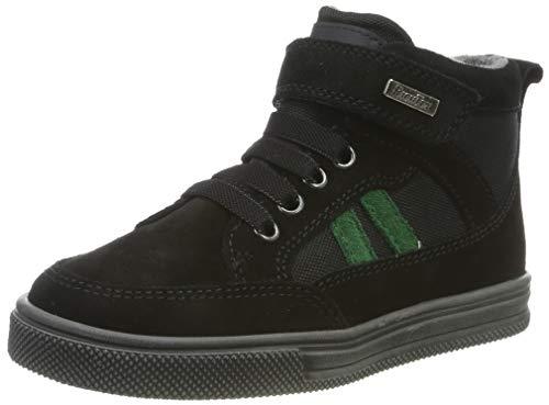 Richter Kinderschuhe Jungen Ola Hohe Sneaker, Schwarz (Black/Turtle 9901), 34 EU