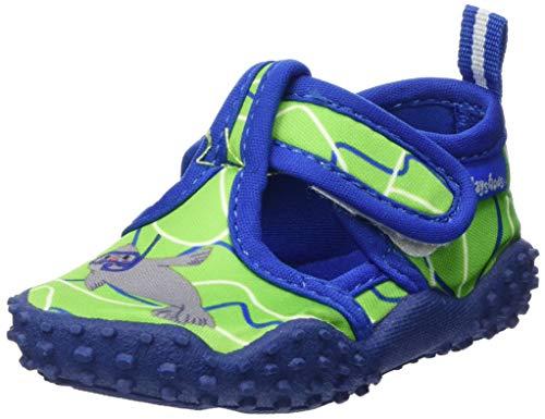Playshoes Unisex-Kinder Badeschuhe mit UV-Schutz Robbe Aqua Schuhe, Grün (Blau/Grün 791), 24/25 EU