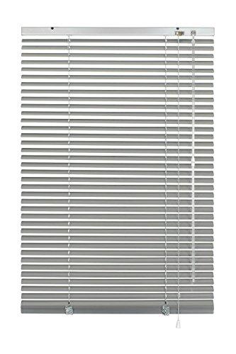 Deco Company Alu-Jalousie zum Klemmen, Sicht-, Licht- und Blendschutz, Alle Montage-Teile inklusive, Aluminium-Jalousie, Silber, 80 x 130 cm (BxH)