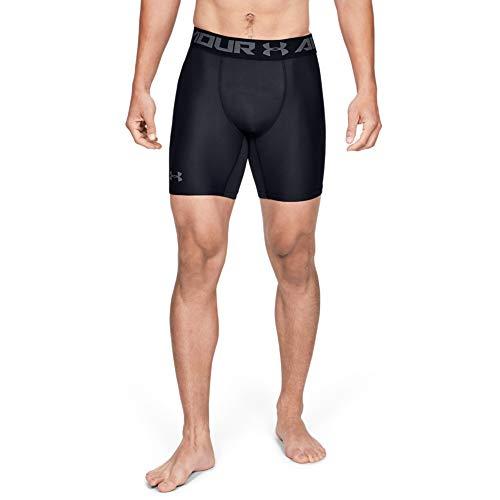 Under Armour Herren HeatGear ARMOUR 2.0 COMP Shorts halblange Kompressionshose, kurze Hose für Männer mit Kompressionspassform, Schwarz, Large