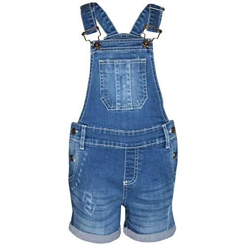 A2Z 4 Kids Kinder Mädchen Latzhose Kurze Hose Hellblau Designer - Shorts Dungaree D77 Light Blue_9-10