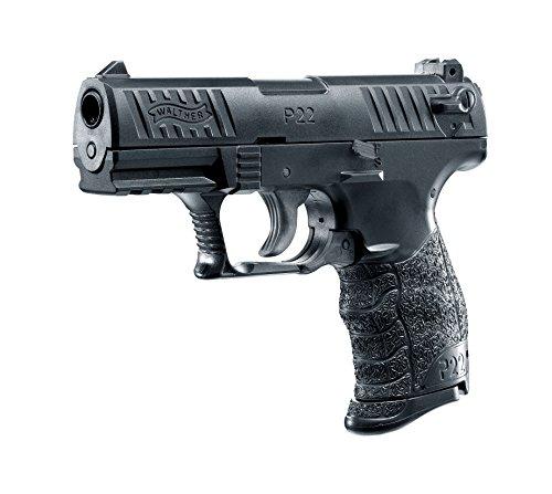 Walther Softair P22Q metal slide mit Maximum 0.5 Joule Airsoft Pistole, Schwarz, 6 mm