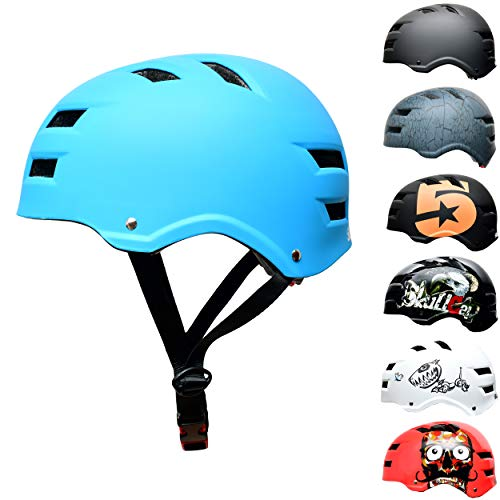 Skullcap® Skaterhelm Erwachsene hellblau Blue Ocean - Fahrradhelm Damen Herren ab 14 Jahre Größe M 55-58 cm - Scoot and Ride Helmet Adult Light Blue - Skater Helm für BMX Inliner Fahrrad Skateboard