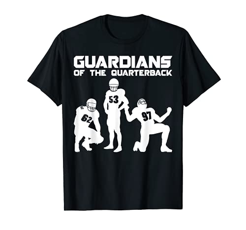 Guardians of the Quarterback American Football O-Line T-Shirt