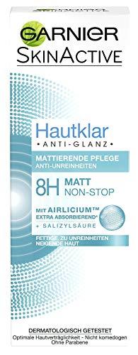 Garnier Hautklar Anti-Glanz Mattierende Pflege, absorbiert überschüssigen Talg, bekämpft Hautunreinheiten, feuchtigkeitsspendend, 6er Pack (6 x 50 ml)