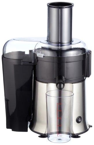 Gastroback 40117 Vital Juicer Pro, Zentrifugal, 700 Watt Multi-Motor, XL-Einfüllschacht 75 mm, ganze Früchte in Sekunden entsaften, spülmaschinengeeignet, Edelstahl, Silber