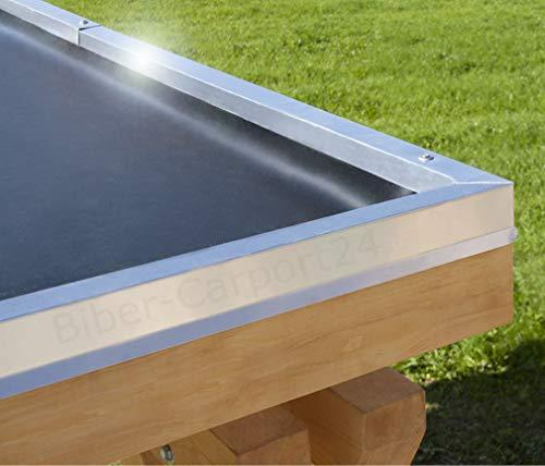 12,20m Breite EPDM-Folie 1,52 mm für Carport, Garage, Vordächer oder Pergola; Preis je m²