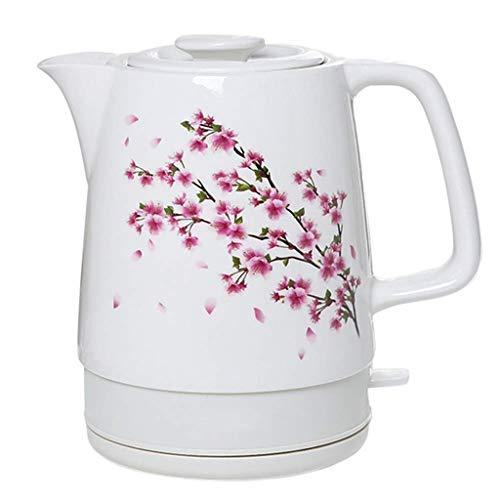 MHRCJ Wasserkocher - Elektrische Ceramic White Kettle Teekanne-Retro Automatic Power Off Quiet Schnellkoch