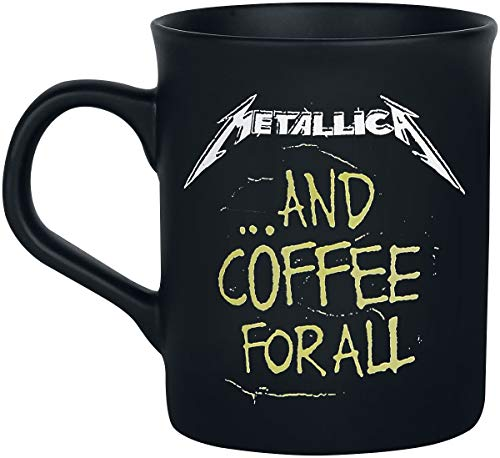 Metallica and coffee for all Tasse mattschwarz