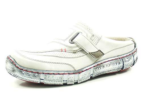 MUSTANG Damen Sabot Weiß/Grau (Ice), Schuhgröße:EUR 41