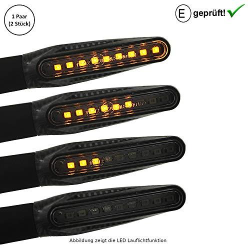 LED Blinker Yamaha YZF-R1M / YZF-R6 / YZF-R3 321 / YZF-R125 (E-Geprüft / 2Stück) (B2)