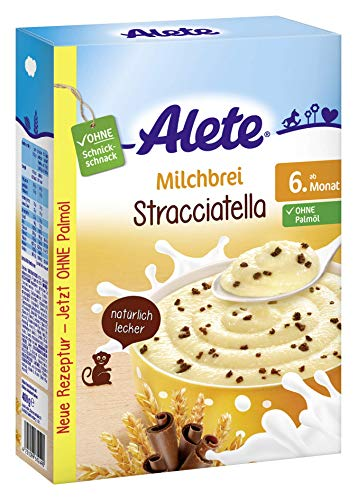 Alete Milchbrei Stracciatella, ohne Palmöl, ab dem 6. Monat, 1er Pack (1 x 400g)