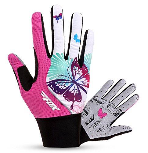 HASAGEI Radfahren Handschuhe Damen Touch Screen Sport Mountain Road Bike Fahrrad Handschuhe Pink Full Finger