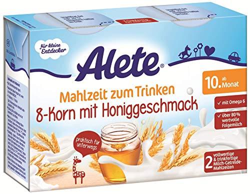 Alete Mahlzeit zum Trinken 8-Korn mit Honig, Praktisch für Zuhause & unterwegs, ab dem 10. Monat, 400 ml