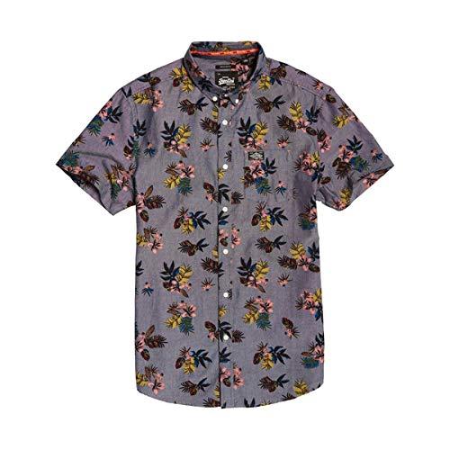 Superdry Herren Shoreditch Button Down Shirt Kurzarm Hemd, Bekleidungsgröße:XXL
