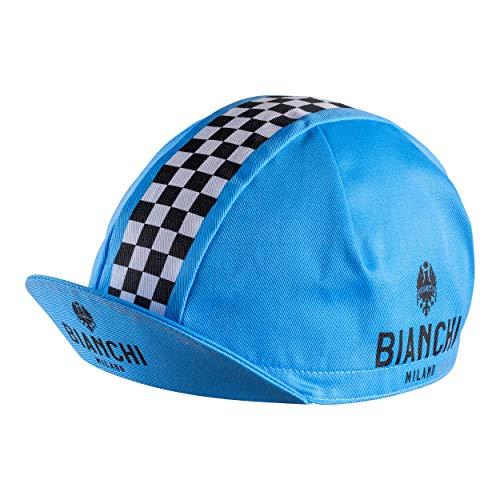 Bianchi Milano Neon Radsport-Mütze, blau/weiß, Einheitsgröße