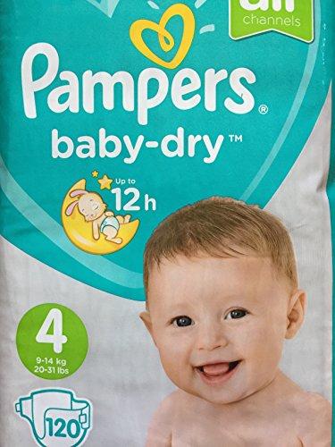 Pampers Baby Dry Windeln, Größe 4, Giga-Pack mit 120 Stück